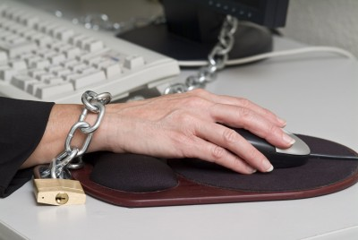 Chained to desk