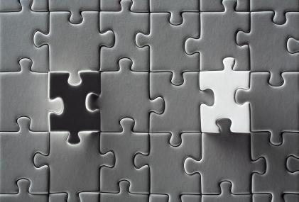 Reverse jigsaw image