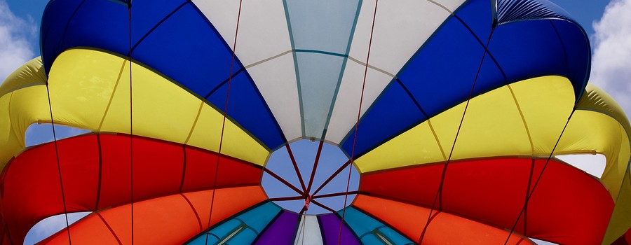 Colored parachute